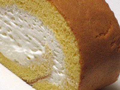 ロールケーキの切り口