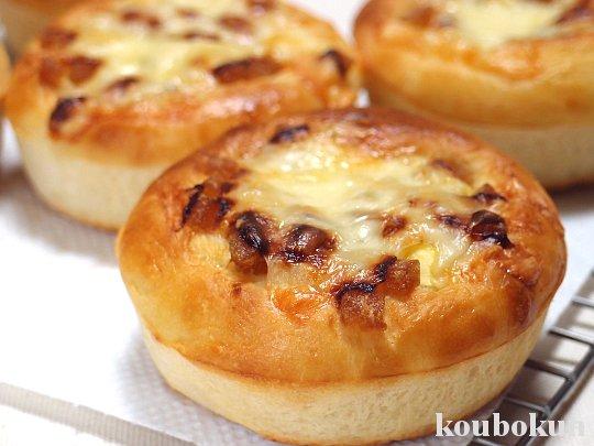 ツマイモとメープルジャムのパン